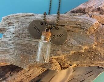 Love & Kisses Dandelion Fluff Necklace