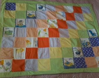 Plaid multicolor convertible patchwork cushion child