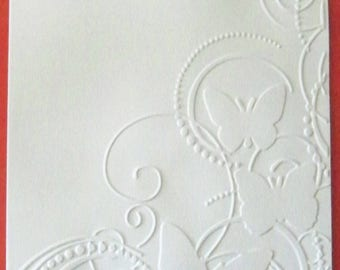 SCRAPBOOKING embossed card Butterfly No. 2 color choice