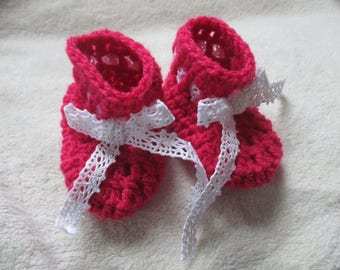 Slippers pink 0-3 month baby birth