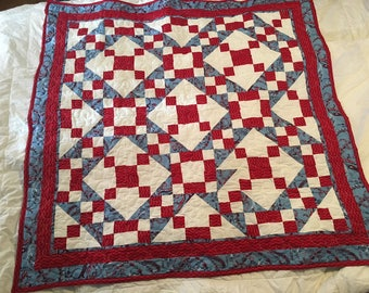 Red, White & Blue Lap Quilt