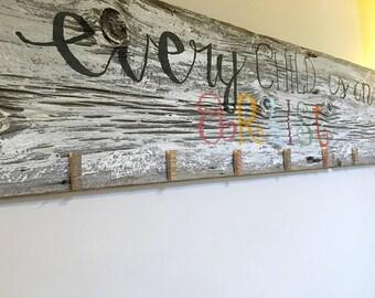 Every child is an artist barn wood decor