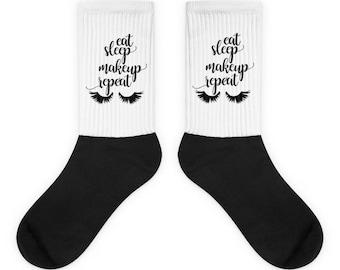 Eat Sleep Makeup Repeat Socks