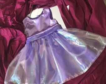 Handmade Purple Tulle Gown, Baby Girl, Birthday Dress