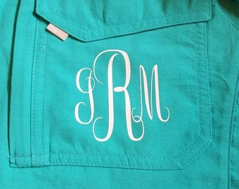 Monogram heat transfer vinyl for your fishing shirt