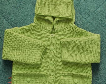 great coat for girl with lime green color 18-24 months