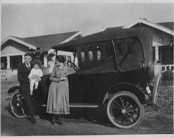 "1918 Original 3.25"" X 4.25"" Photo Automobile from california"