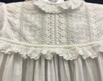 Vintage Christening Gown with Embroidery