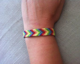 Classic Friendship Bracelet in Rainbow colors