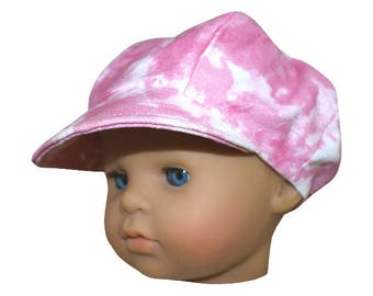 Hat style newsboy baby neon pink (45 to 50 cm)