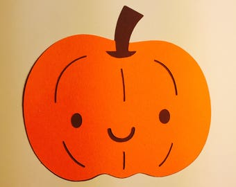 10 Pumpkin Paper Die Cuts (Can come in different colors and sizes)
