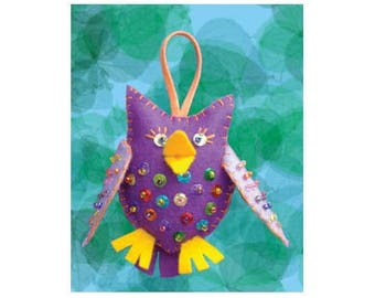 Sewing Kit to create this pretty colorful OWL / creative Kit DIY all included