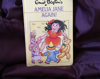 FREE POSTAGE Vintage Enid Blyton Amelia Jane Again Childrens trio 1988 reprint Darrell Waters ltd published by dean