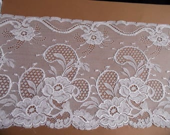 Antique French Calais lace stunning white VINTAGE wedding 1 meter