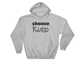 Choose Kind Wonder RJ Palacio anti bullying kindness positive message acceptance,  education friendship motivation Hooded Sweatshirt