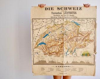 Swiss Vintage map