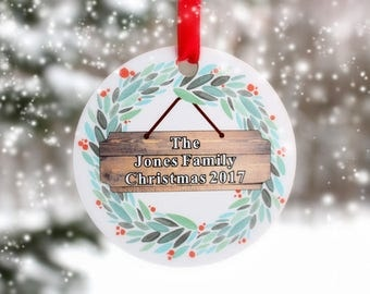 Personalized Ornament,Christmas Ornament,Ornament For Tree,Stocking Stuffer,First Christmas,Couples Christmas,Family Ornament