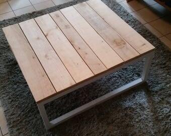 industrial coffee table pallet wood