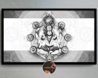 Shiva - original ilustration art picture