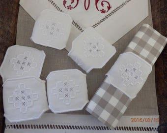 Way hardanger embroidered napkin