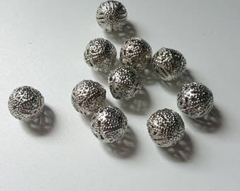 silver plated 10 mm 10 beads