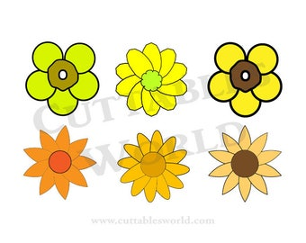 Sunflowers  SVG PNG DXF pdf eps and jpg format Clipart