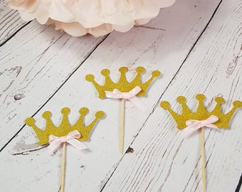 Princess Crown Cup Cake Toppers