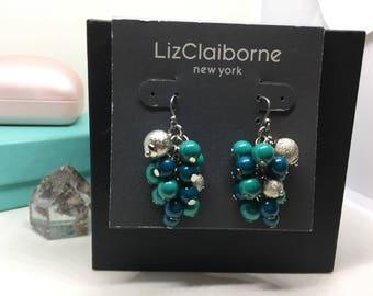Liz Claiborne dangle/ cluster earrings