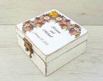 Custom wedding ring box Wooden ring box Personalized wedding ring box Ring bearer box Rustic ring box Proposal ring box Wedding rings holder