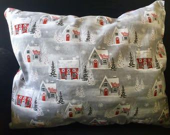 Christmas House Decorative Pillow, Square Pillow