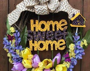 "18"" Home Sweet Home Wreath"