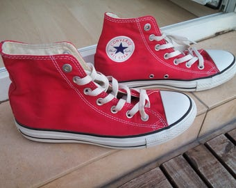 Vintage Chuck Taylor All Star High Top Red Converse (Project Red)