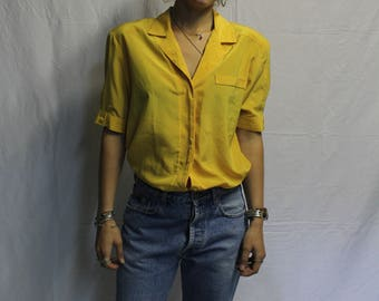 Yellow shirt with polka dots vintage
