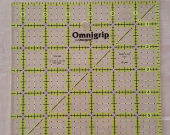 """Omnigrid  Ruler 6 1/2"""" x 6 1/2 """" for Sewing and Quilting"""