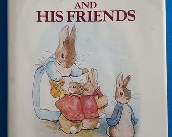 Vintage Tales of Peter Rabbit and His Friends Book with Thirteen Beatrix Potter Stories and Illustrations
