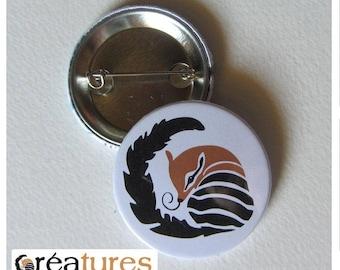 Badge illustration vector creature numbat 38mm