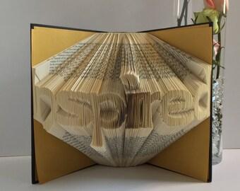 Inspired - Folded Paper Book Art