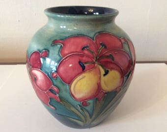 Moorcroft Freesia Vase Signed
