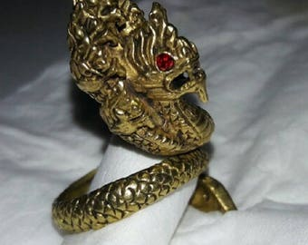 ring Naga Seven head. Made from Brass, Highly Detailed from thailand