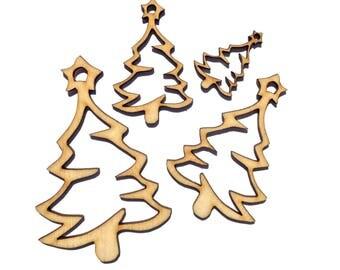 Wooden Christmas Tree Plywood Scrapbooking Embellishment Wedding Decor Gift