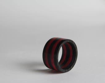 Carbon Fiber Glow Ring-orange Glow carbon fiber (sizes 3-12 including half sizes)