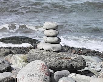 Pebble Wall Art - Coastal Photography Print Instant Download