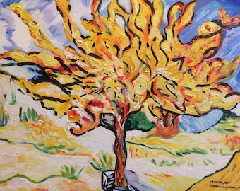 The olive tree by Vincent Van Gogh's painting