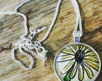 Happy Yellow Flower Necklace