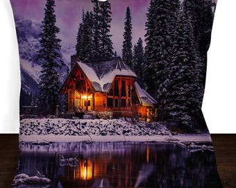 Beautiful Cabin Decorative Pillow