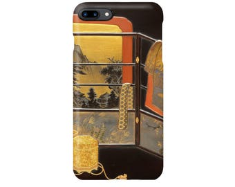 """iPhone case  """"Writing Box (Suzuribako) with Screen, Robe Rack, and Shell-Matching Game Set""""  iPhone5 iPhone6 iPhone7 iPhoneSE"""