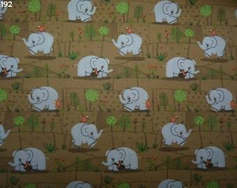 Fabric C192 Elephants coupon 35x50cm