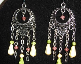 Bohemian earrings 5 pendants