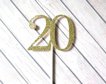 20th Birthday Cupcake Toppers, 20 Cupcake Toppers, Twenty Cupcake Toppers, Twentieth Birthday, Twenty Birthday Cupcakes, 20th Anniversary