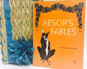 Vintage 1963 Aesop's Fables by Anna McGovern and illustrated by AJ MacClaskey in Good Used Condition Children's Book and Collector Paperback